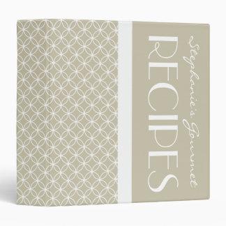 Ringed Diamonds Recipe - Latte White Vinyl Binders