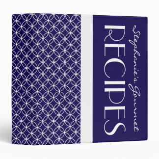 Ringed Diamonds Recipe - Navy Blue White 3 Ring Binders
