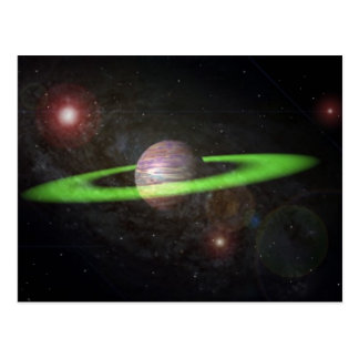 ringed planet postcard