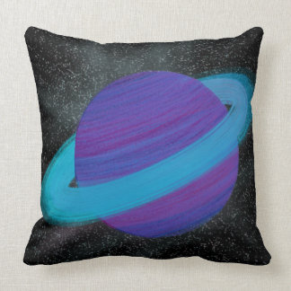 Ringed Planet Throw Pillow