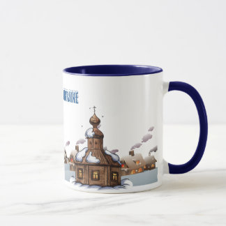 Ringer Mug. Winter in Ukraine Mug