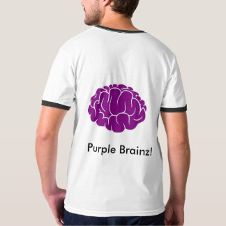 Ringer Tee Purple Brainz