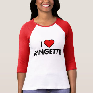 """Ringette 3/4 sleeve """"I Love Ringette"""" Tee Shirt"""