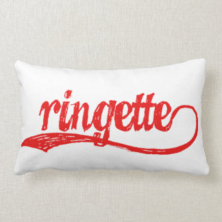Ringette Double-Sided Pillow (Red/Blue)