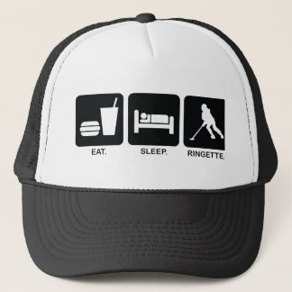 "Ringette ""Eat Sleep Ringette"" Baseball Hat"