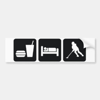 "Ringette ""Eat Sleep Ringette"" Bumper Sticker"