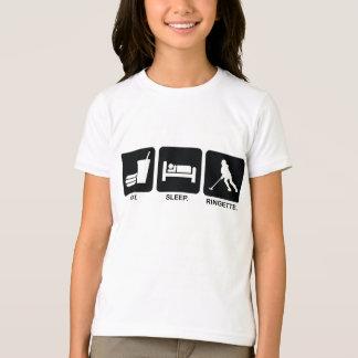 """Ringette """"Eat Sleep Ringette"""" Kids/Youth Ringer T-Shirt"""