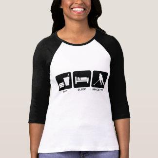 """Ringette """"Eat Sleep Ringette"""" Ladies 3/4 Sleeve Tshirts"""