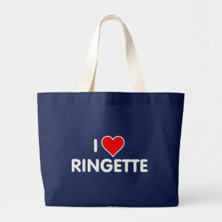 """Ringette """"I Love Ringette"""" Jumbo Tote Bag"""