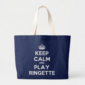 "Ringette ""Keep Calm Play"" Jumbo Tote Bag"