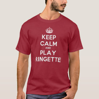 "Ringette ""Keep Calm Play"" Unisex Dark T-Shirt"