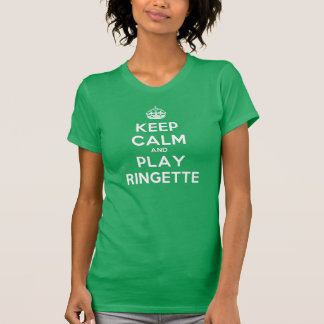 "Ringette ""Keep Calm Play"" Women's T-Shirt"