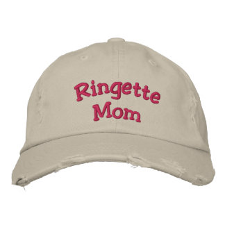 """""""Ringette Mom"""" Embroidered Hats"""
