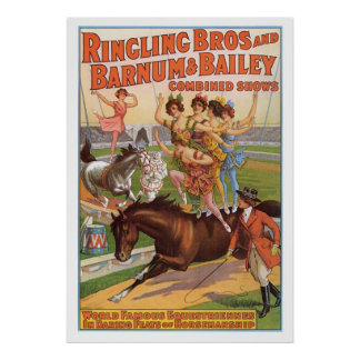Ringling Bros. Equestriennes  Advertisement 1910's Poster