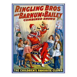 Ringling Brothers & Barnum & Bailey Vintage Clown Post Cards