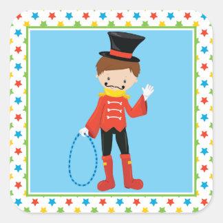 Ringmaster | Circus Theme Square Sticker