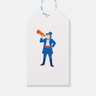 Ringmaster Shouting Bullhorn Retro Gift Tags