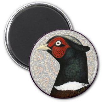 Ringneck Pheasant Circle Magnet