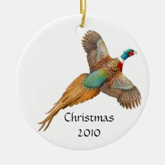 Ringneck Pheasant Customizable Ornament