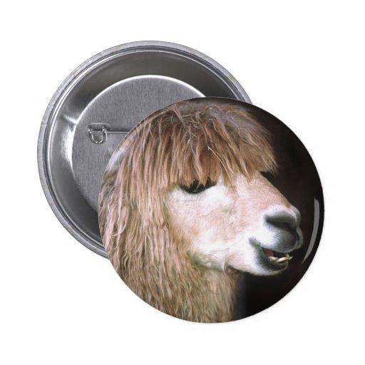 Ringo the Alpaca Button