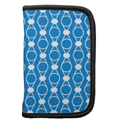 Rings and Dots Pattern - Blue White Folio Planners