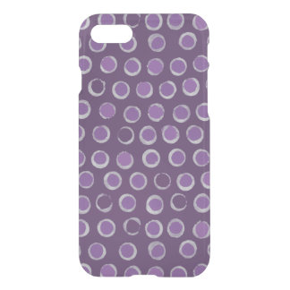 Rings and Dots Silver and Purple Pattern iPhone 7 Case