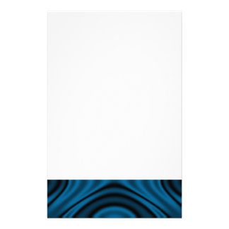 Rings and Ripples Blue Stationery Design
