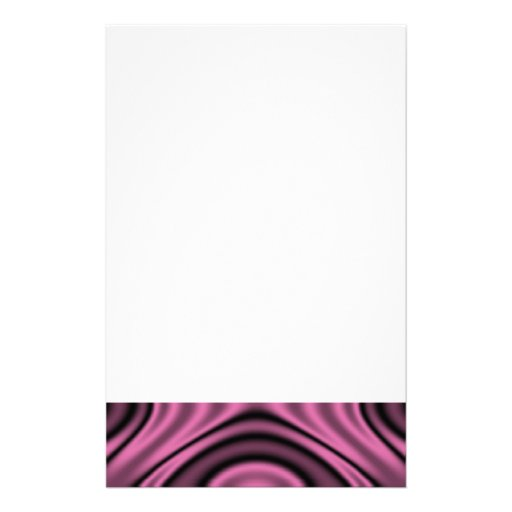 Rings and Ripples Pink Personalized Stationery