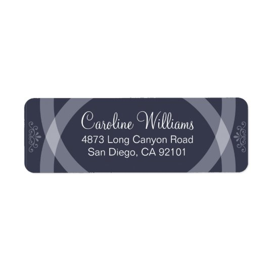 Rings Crossing Return Address Label