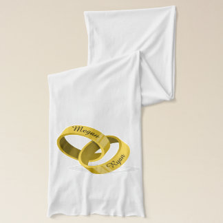 Rings - Engraved custom Names & Date Scarf