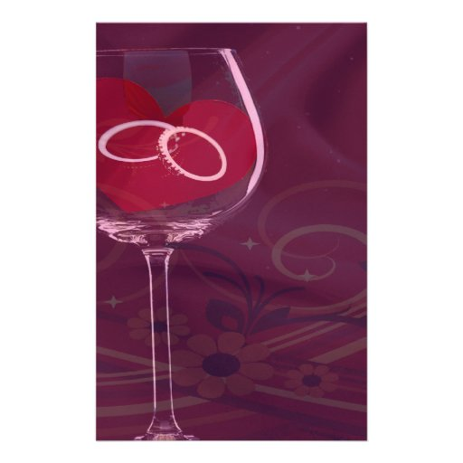 Rings In Wedding Glass Set Custom Stationery