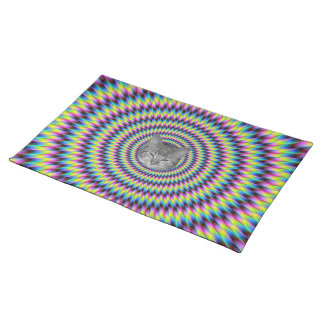Rings Of Color Cat Placemat