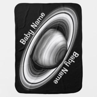 Rings of Gas Giant Saturn - solar system Stroller Blankets