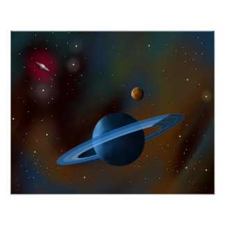 """""""Rings of Neptune"""" Poster"""