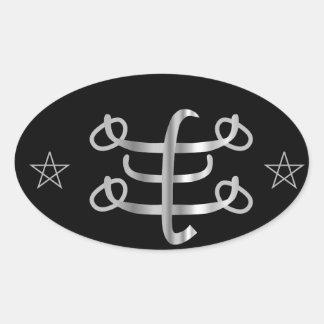 Ringstone symbol- Bahai religious icon Oval Sticker