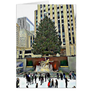 Rink At Rockefeller Center NYC Christmas Card
