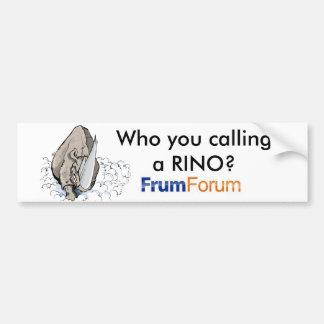 rino, 36470578_400x400, Who you calling a RINO? Bumper Sticker