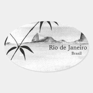 Rio/Brasil landscape Oval Sticker