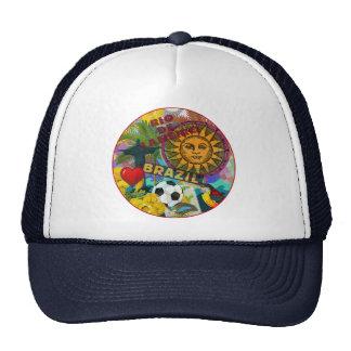 Rio Brazil Vintage Collage Colorful Trucker Hat