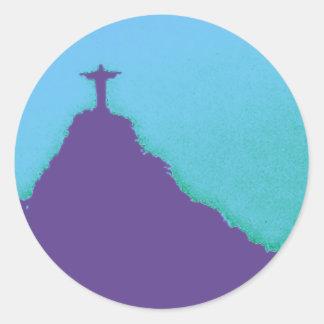 Rio Corcovado Cristo Classic Round Sticker