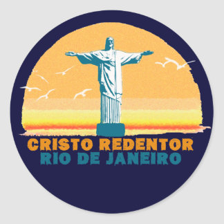 Rio - Corcovado - Jesus Christ the Redeemer Classic Round Sticker