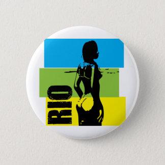 Rio de Janeiro 2 Inch Round Button