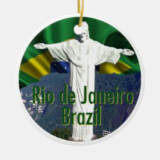 Rio de Janeiro Brazil Ceramic Ornament
