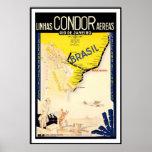 Rio De Janeiro Brazil Linhas Condor Aereas Posters