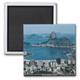 Rio de Janeiro, Brazil Square Magnet