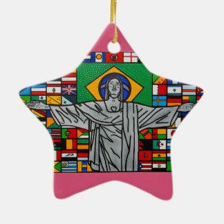 Rio de janeiro ceramic ornament