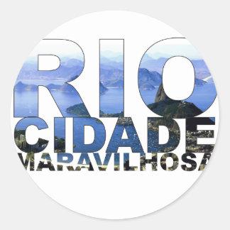 Rio de Janeiro Classic Round Sticker