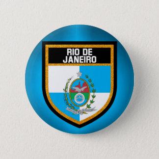 Rio de Janeiro Flag 2 Inch Round Button