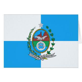 Rio de Janeiro flag Card