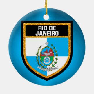 Rio de Janeiro Flag Ceramic Ornament